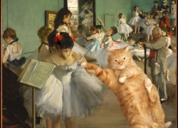 Edgar Degas, The Dance Class. Learn pas de chat  / Эдгар Дега, Танцевальный класс