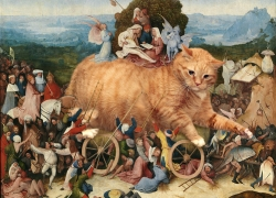Hieronymus Bosch, The Catwain, or The Burden of an Internet Kitty Fame / Иероним Босх, Воз кота, или Бремя кошачьей славы