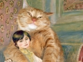 Auguste Renoir, Julie Manet with Zarathustra the Cat / Огюст Ренуар, Жюли Мане и Кот Заратустра