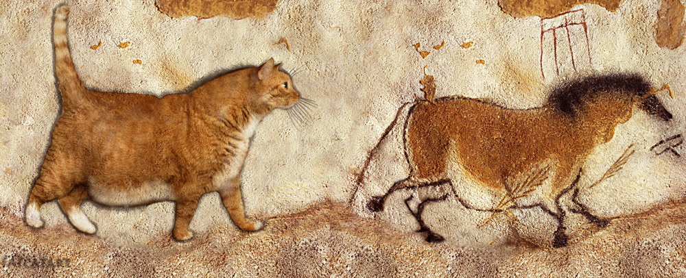Fat Cat and Fat Horse at Lascaux by FatCatArt