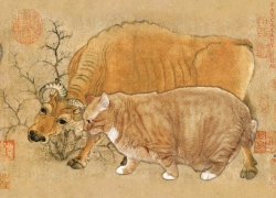 Han Huang, Five Oxen and Five Cats, 5