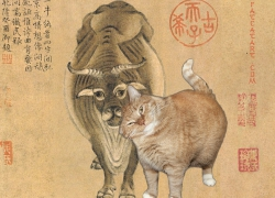 Han Huang, Five Oxen and Five Cats, 3