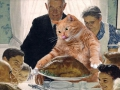 Norman Rockwell, Freedom from Want: Give you Turkey to the Cat / Норман Рокуэлл, Свобода от нужды: отдай индейку коту