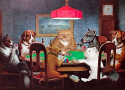 C.M. Coolidge, Dogs and Cats Playing Poker