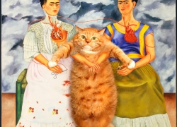 Frida Kahlo, Two Fridas and One Cat / Фрида Кало, Две Фриды и один кот