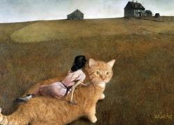 Andrew Wyeth, The Cat in Christina's World / Эндрю Уайет, Кот в мире Кристины