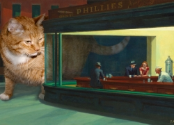 Edward Hopper, Nighthawks and Nightcats