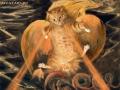 "William Blake, The Great Red Dragon and the Cat Clothed with Sun play ""surprised kitty"" / Уильям Блейк, Великий Красный Дракон и Кот, Облеченный в Солнце играют в «удивленного котенка»"