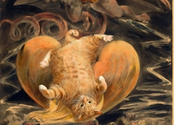 William Blake, The Great Red Dragon and the Great Laser Cat / Уильям Блейк, Великий Красный Дракон и Великий Лазерный Кот