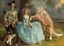 Thomas Gainsborough, Mr. and Mrs. Andrews, and Mr. Cat / Томас Гейнсборо, Мистер и миссис Эндрюс и мистер Кот