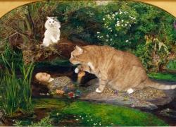 Sir John Everett Millais, Ophelia and Cats