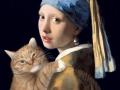 Johannes Vermeer, Girl with a Pearl Earring and a Ginger Cat / Ян Вермеер, Девушка с жемчужной сережкой и рыжим котом