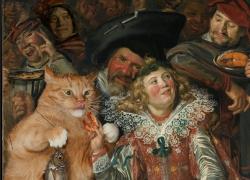 Frans Hals, Merry cat feeders at Shrovetide / Франс Хальс, Все коту масленица!