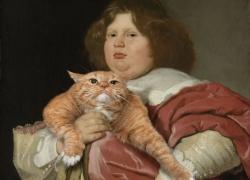 Bartholomeus van der Helst. Fat Boy and Fat Cat / Бартоломеус ван дер Хелст. Толстый мальчик и Толстый Кот.