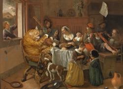 Jan Steen, The Merry Family / Ян Стен, Счастливая семейка