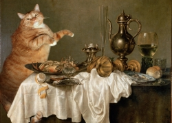 Willem Claesz Heda, Cat's Breakfast with a Crab / Виллем Клас Хеда, Завтрак с крабом