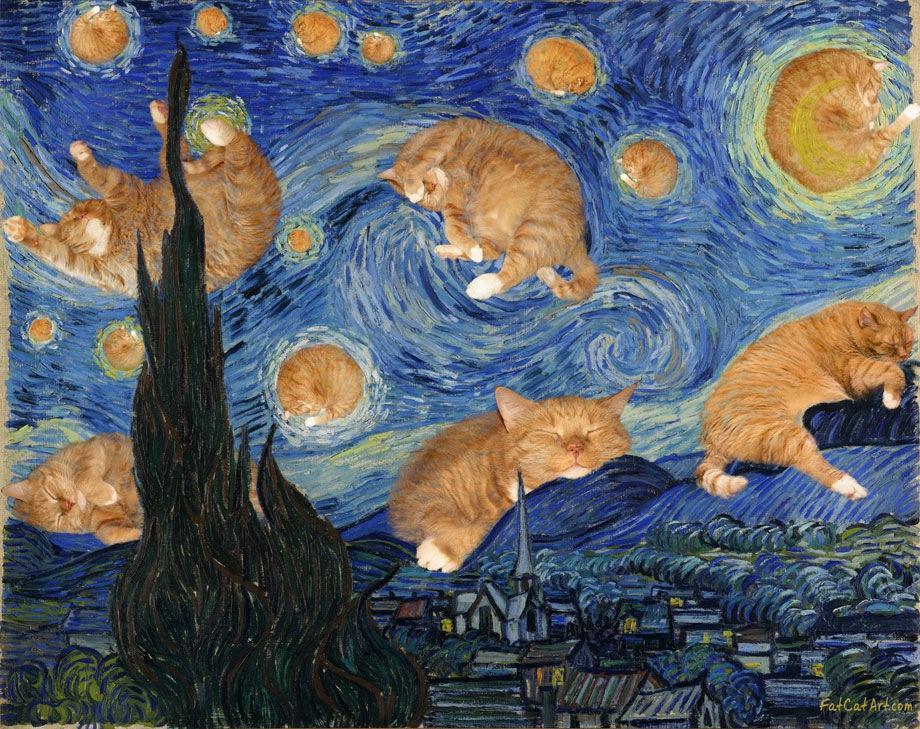 Винсент Ван Гог, Пушистая Звездная ночьВинсент Ван Гог, Пушистая Звездная ночь