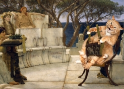 Sir Lawrence Alma-Tadema, Sappho and the Fat Cat / сэр Лоуренс Альма-Тадема, Сафо и толстый кот