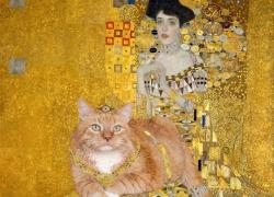 Gustav Klimt, Portrait of Adele Bloch-Bauer with the Cat