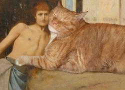 Fernand Khnopff, Art or the Caresses of the Sphynx / Фернан Кнопф, Искусство, или нежность сфинкса