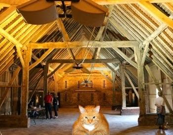 We at the Barn, as Abingdon Blog imagined /  А вот и Мы в амбаре, подстерегаем мышей и любителей искусства, как Нас представил Абингдон блог