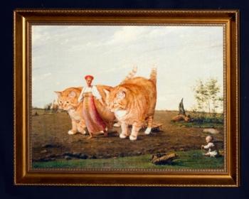 "Aleksey Venetsianov ""In the ploughed field. Spring. Cats at work"" / Алексей Венецианов ""В поле. Весна. Коты в работе"""