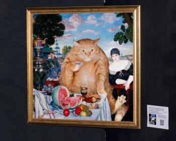 "Boris Kustodiev ""The Cat's Tea  with Merchant's  Wife"" / Борис Кустодиев ""Купчиха за чаем, или, точнее, Купчиха за Котом"""