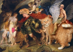 Peter Paul Rubens, Perseus releases Andromeda by tweeting Covfefe