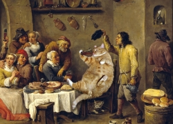David Teniers the Yonger. The King drinks
