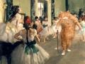 Edgar Degas, The Ballet Class. Learn pas de chat / Эдгар Дега, Урок танца. Разучиваем па-де-ша