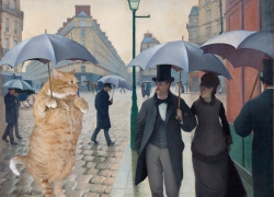 Gustave Caillebotte, Paris Street; Rainy Day: Where is a cheese shop?
