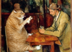 Paul Cézanne, The Cat Card Players / Поль Сезанн, «Игроки в кошачий покер»