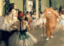 Edgar Degas, The Ballet Class. Learn pas de chat