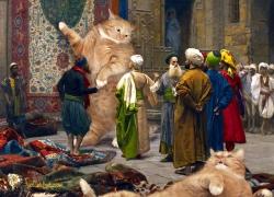 Jean-Leon Gerome, Carpet Merchants, or Cats'n'Carpets / Жан-Леон Жером, Продавец ковров, или Коты и ковры