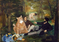 Edouard Manet, Cat's Luncheon on the Grass