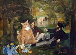 Edouard Manet, Cat's Luncheon on the Grass / Эдуард Мане, Завтрак кота на траве
