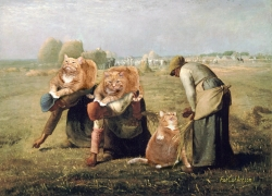 Jean-Franсois Millet, The Gleaners,  or Cute Overload of Overlords / Жан-Франсуа Милле, Сборщицы колосьев и высшие классы