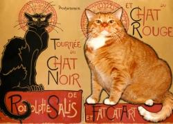 Théophile Steinlen, La tournée du Chat Noir et du Chat Rouge / Теофиль-Александр Стейнлен, Гастроли Черного и Рыжего кота