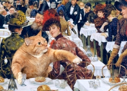 James Jacques Joseph Tissot, The Wives of the Artist-Cat / Джеймс Тиссо, Жены художника-кота