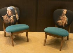Two limited edition chairs produced and signed by Luthfi Hasan of Jakarta Vintage in collaboration with Fat Cat Art