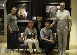 The team of the exhibition and friends who helped: Guillaume Levi-Lambert, Sean Soh, Mark Goh (Art Porters, Singapore), Svetlana Petrova, Alyona Minina (Fat Cat Art, Russia)