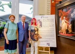 Svetlana Petrova with HE Andrey Tatarinov, Ambassador of the Russian Federation to Singapore and his spouse Nathalia
