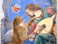 Melozzo da Forli, Angel playing lute to his cat / Мелоццо да Форли, Ангел играющий на лютне своему коту