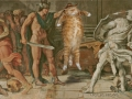Annibale Carracci and Domenichino, Perseus and the Fat Cat, fresco at Farnese Gallery / Аннибале Каррачи и Доменикино, Персей и Толстый Кот, фреска в галерее Фарнезе, Рим