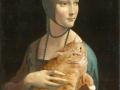 Leonardo da Vinci. Lady with a Cat pretending to be an Ermine (Portrait of Cecilia Gallerani) / Леонардо да Винчи. Дама с котом, притворяющимся горностаем