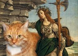 Botticelli, Pallas and the Cat