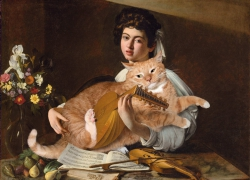 Caravaggio, The Lute Player with the Cat / Караваджо, Юноша с лютней и котом