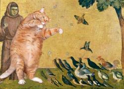Giotto Di Bondone, The Cat, preaching to the birds / Джотто ди Бондоне, Кот, проповедующий птицам