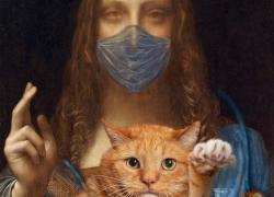 Leonardo da Vinci, Salvator Mundi, cum suo Felis