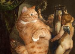Titian, Venus with a Mirror or Venus in furs. True version. Part I of Venus' Selfie diptych / Тициан, Венера перед зеркалом, или Венера в мехах, часть первая диптиха «Селфи Венеры»